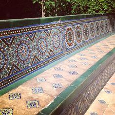 Islamic Tile - Alcazar Gardens, Seville, Andalusia, Spain