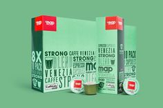 Map Coffee Capsules packaging designed by CIP.