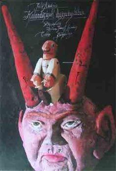 Tentoonstellingsaffiche. Titel: Kalandozàson, 1987. Afmetingen: 68 br.x 98 cm. Hg.