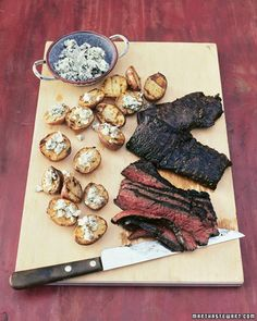 Grilled Steak with Blue Cheese Potatoes Recipe