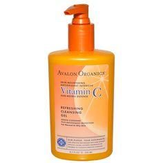 Avalon Organics, Vitamin C Sun Aging Defense, Refreshing Cleansing Gel, 8.5 fl oz (250 ml)