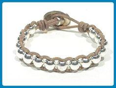 Women boho bracelet, women leather bracelet, sterling silver beads bracelet, red leather bracelet, gifts for her, mom bracelet, FREE SHIPPING - Wedding bracelets (*Amazon Partner-Link)