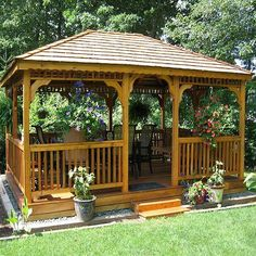 Backyard Deck Design Simple Wooden Backyard Designs Ideas Gazebo Kits Built For Simple Pergola Plans Relax With Table And Chairs Natural Inside Landscape Design Design Patio, Anique Gazebo Designs For Your Inspirations: Exterior Cozy Backyard, Backyard Gazebo, Garden Gazebo, Backyard Landscaping, Backyard Ideas, Landscaping Ideas, Patio Ideas, Garden Ideas, Easy Garden
