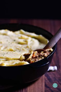 Shepherd's Pie makes a comforting dish. Made with ground beef and vegetables and topped with roasted garlic cheddar mashed potatoes, it is a favorite year-round.