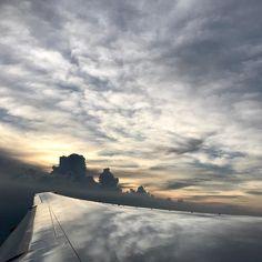 Wonderland #sunset en route to #chiangmai #fromtheair #airplane