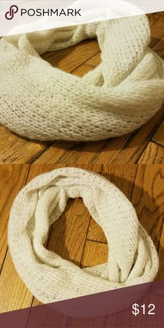 Shiny circle scarf Off white Shiny circle scarf. Accessories Scarves & Wraps