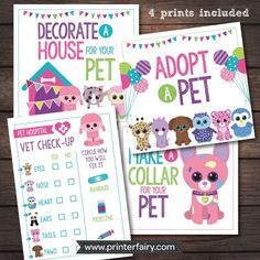 Beanie Boo Inspired party prints