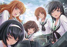 Anime - Girls Und Panzer  Miho Nishizumi Hana Isuzu Yukari Akiyama Mako Reizei Saori Takebe Wallpaper