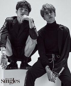"""Changsub (BTOB) and Ken (VIXX) for """"Singles"""" magazine :)"""
