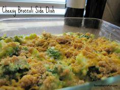 Easy Thanksgiving Recipe: Cheesy broccoli side dish recipe http://terrellfamilyfun.com/2012/11/easy-thanksgiving-recipes/