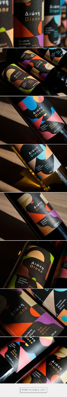 Wine Labels |  Dione Wine Collection from Dourakis Winery design by The Birthdays Design