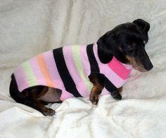 Warm Weenies...Custom Cashmere made to measure dachshund sweater jumper cozy warm soft handmade pets clothing