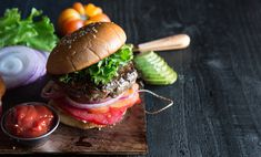 Photo and Food Styling: Judy Kim Hot Dog Recipes, Hamburger Recipes, James Beard, Cook Up A Storm, Tailgate Food, Delicious Sandwiches, Food Styling, Burgers, Sarnies