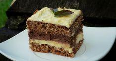 ciasto czekoladowo - chałwowe na biszkopcie
