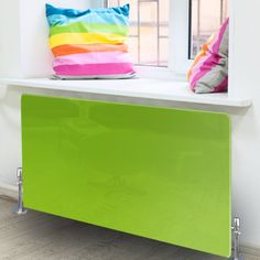 Radiator Art - Lime Green Radiator Cover - X Large