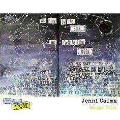 In Celebration of the Eclipse - Art Journaling byJenni Calma