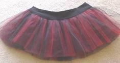 How to Make a Black and red tulle tutu skirt - now w/ tutorial - CLOTHING