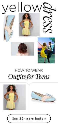 """Yellow dress"" by flixjackford on Polyvore featuring New Look and Oxford"