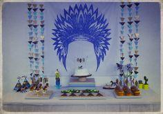 Anniversaire sur le thème des indiens. www.rosecaramelle.fr #anniversaire #fete #rosecaramelle #powwow #feteindien #powwowparty #sweettable #candybar #birthday