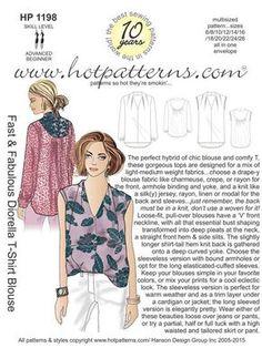 HP 1198 Fast & Fabulous Diorella T-Shirt Blouse - HotPatterns.com