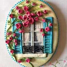 Пряник.Прованс...Хочу лето!!!)))#сладкийподарок #пряникиназаказмосква #пряникивподарок #пряники #имбирныйпряникназаказ #cookieart #cookiedecorating #розы #прованс