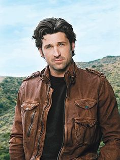 Lets face it. I'm a sucker for a guy in a leather jacket. Also Patrick's hair is PERF. I'm also a sucker for a man with fine hair
