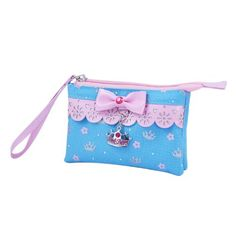Pink Poppy Sweetness and Charms Wristlet (Blue) Pink Poppies, Poppy, Charms, Coin Purse, Wallet, Amazon, Wristlets, Sweet, Womens Fashion