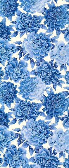 1000 images about pattern on pinterest vintage floral for Blue patterned wallpaper bedroom