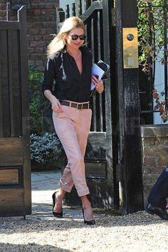 Pink Pants on Kate Moss