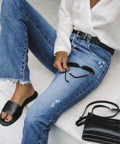 20 Tips for Who Want To Wear Business Casual Jeans Women Mode Outfits, Trendy Outfits, Fashion Outfits, Fashion Trends, Spring Look, Spring Summer Fashion, Womens Fashion For Work, Look Fashion, Casual Look