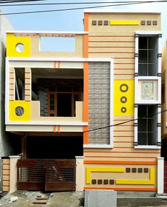House Front Wall Design, Gate Wall Design, House Balcony Design, House Outer Design, Single Floor House Design, House Outside Design, Village House Design, Duplex House Design, House Design Photos