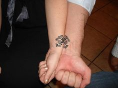 Celtic Floral Friendship Tattoos On Wrists