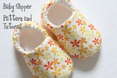 Baby Shoe Pattern - Slipper.   Cover in knit fabric to be warm and cozy. Maybe add acrylic on the bottom for traction too.