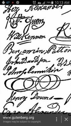 John davisons signature on the mechlenberg  declaration  of independence
