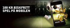 Spela på Betsafe Sport: 100 kr riskfritt spel på mobilen