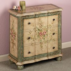 "Marissa Floral Storage Chest, 28"" w x 13"" d x 28"" h. $469.00 at touchofclass.com, 12/10/15"