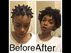 Bantu Knot Out| Transitioning Hair - YouTube