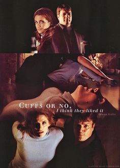 Cuffs or no, I think they liked it. - Stana Katic
