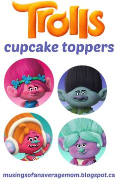 Everything you need for a Trolls Birthday Party. Invitations Free printable Trolls Invitations And here are three mo. Trolls Birthday Party, Troll Party, 6th Birthday Parties, Birthday Ideas, Birthday Decorations, Boy Birthday, Troll Cupcakes, Kid Cupcakes, Cupcake Toppers Free