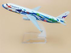 16cm Alloy Metal Thailand Thai Bangkok Air Airlines Airbus 320 A320 Airways Plane Model Aircraft Airplane Model W Stand