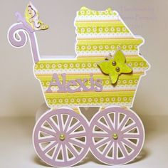 Baby Carriage Card using Heritage cartridge and Straight from the Nest  http://acreativeneed.wordpress.com/