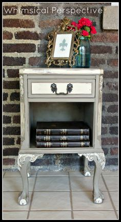 Whimsical Perspective: Painted Pieces #antiquefurniture