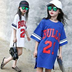 28646661aa6b Girls Short Sleeve T-shirt Summer Dress Children s Sports Top Children s  Long Baseball T-shirt. Cheap ...