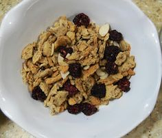 Low carb, homemade breakfast grape-nut cereal