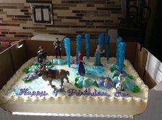 the kids loved it Birthday Sheet Cakes, Frozen Birthday Cake, Frozen Party, 4th Birthday Parties, 2nd Birthday, Birthday Ideas, Frozen Sheet Cake, Costco Cake, Elsa Cakes