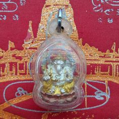 LORD GANESH GANESHA HINDU STATUE GOD ELEPHANT PROSPERITY WEALTH SUCCESS PENDANT