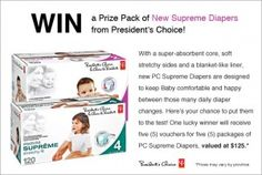 Win a Prize Pack of New Supreme Diapers from PC  *Contest Closes Dec 9*  http://freebabystuff.ca/contests/pc-supreme-diaper/