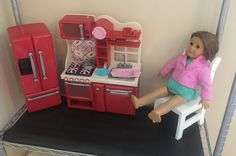 Your kids and American Girl dolls will love this easy DIY American Girl doll Apartment!...