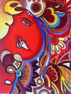 indian abstract painting