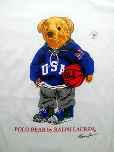 RALPH LAUREN BASKET BALL POLO BEAR ROUND NECK T SHIRT   - Condition: Original - factory over run stock for export.  - A relaxed, classic fit T-shirt in soft cotton jersey.  - Ribbed collar, Sewn short sleeves.  - Polo Bear graphic at the chest.   ASIAN SIZE & COLOURS  White: S, M, L, XL, ...
